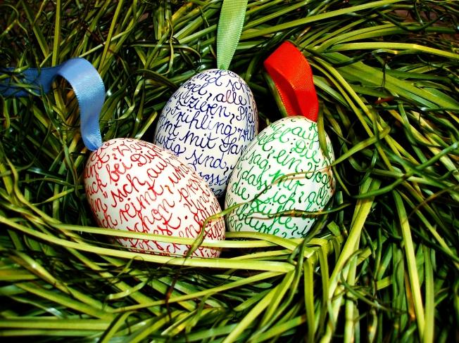 beschriebene Eier