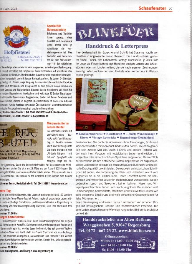 Regensburger Kulturjournal