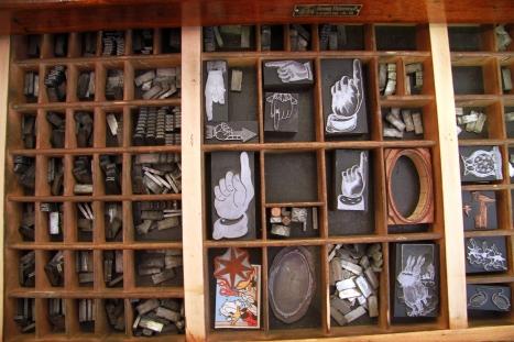Bleilettern & Buchdruckklischees