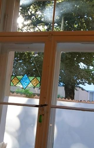 Werkstattfenster zum Hof