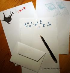 Handbedrucktes Büttenbriefpapier