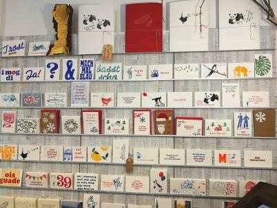 Edle Büttenkarten, von Hand bedruckt.